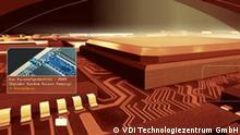 Deutsche Nanotechnologie: Nanoreise durch einen Chip, Ausschnitt 1cm