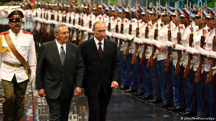 Putin, de visita en Cuba, en 2014.