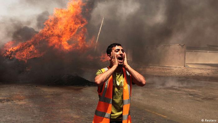 Palästina Israel Angriff auf den Gazastreifen 12.07.2014 Luftangriff Gaza-Stadt
