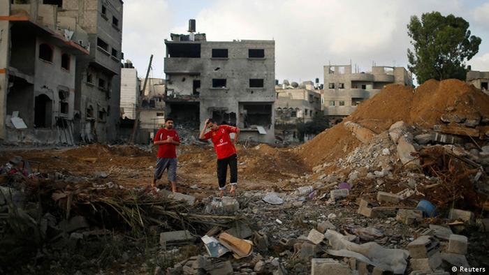 Devestation following an Israeli attack in Gaza