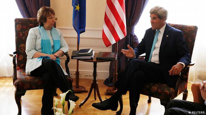 Atomgespräche in Wien Juli 2014 Kerry und Ashton