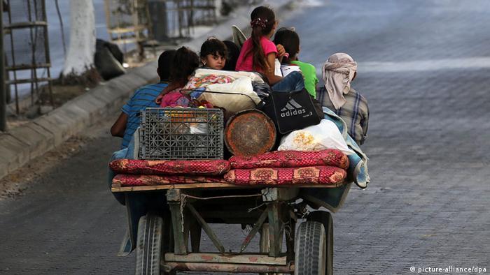 Des milliers d'habitants du nord de la bande de Gaza ont abandonné leur domicile