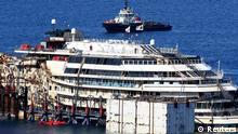 Costa Concordia Bergung am 13.7.14