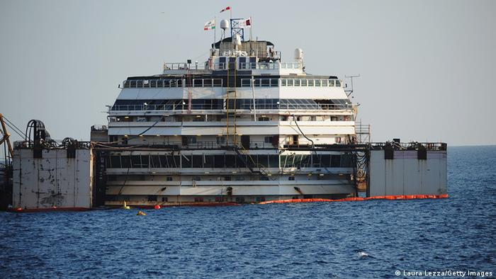 Costa Concordia on 14 July