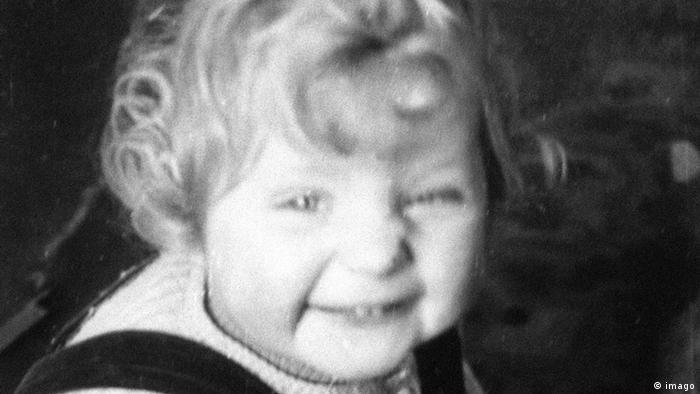 Angela Merkel as a child