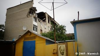 Разрушенный дом в Марьинке