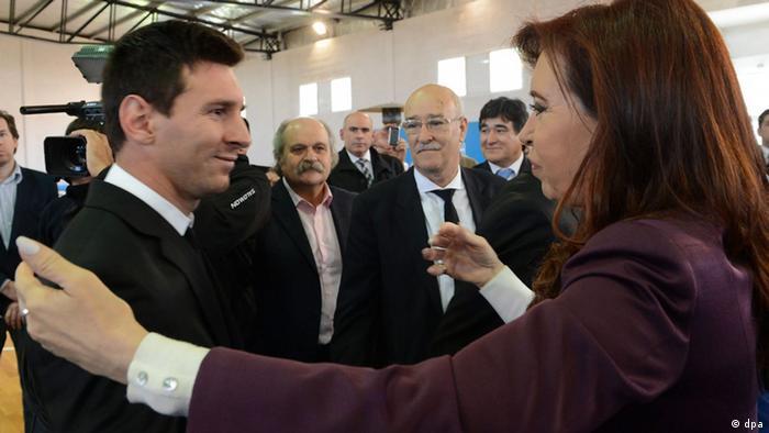 Lionel Messi und Cristina Fernandez de Kirchner