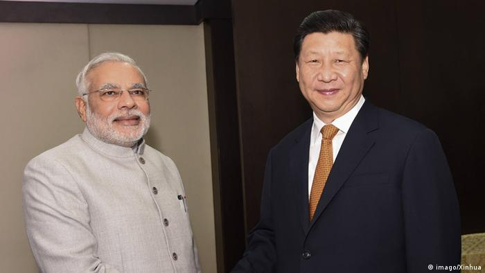 Xi Jinping mit Narendra Modi in Fortaleza 14.07.2014