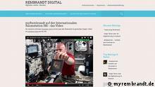 Screenshot myrembrandt.de Alexander Gerst ISS BITTE IM ARTIKEL AUF DIE WEBSEITE BEZIEHEN