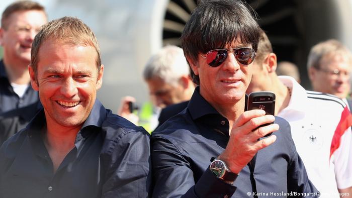 Joachim Löw et Hansi Flick