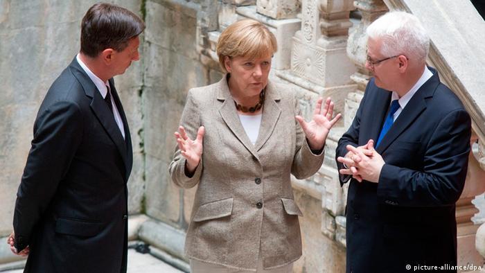 Njemačka kancelarka za nedavne posjete Dubovniku u društvu slovenskog i hrvatskog predsjednika Boruta Pahora i Ive Josipovića