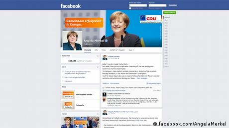 Screenshot Angela Merkel Facebook 15.7.2014 (facebook.com/AngelaMerkel)