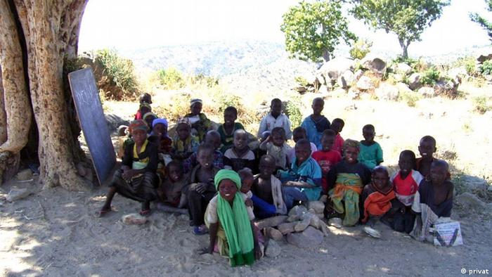 A school class in the Gwoza mountains. Since the picture was taken, the teachers have fled