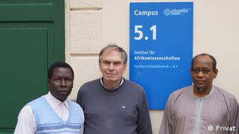Norbert Cyffer with two Nigerian colleagues