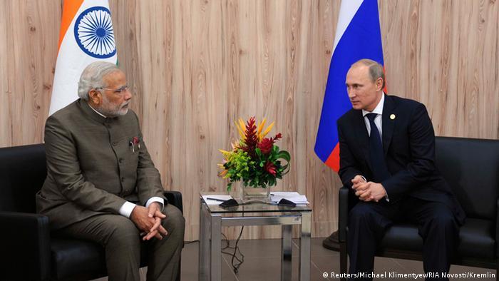 Встреча Владимира Путина и Нарендра Моди (фото из архива)