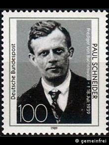 Pfarrer Paul Schneider Briefmarke 1989