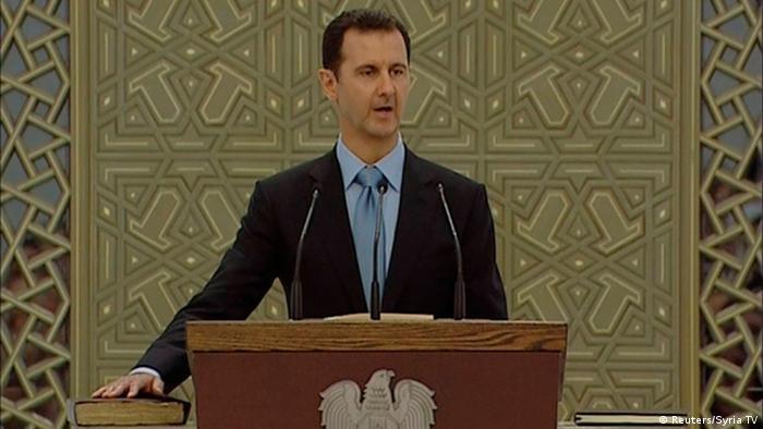 بشار الأسد يؤدي القسم في 2014 لفترة رئاسية جديدة لسبع سنوات