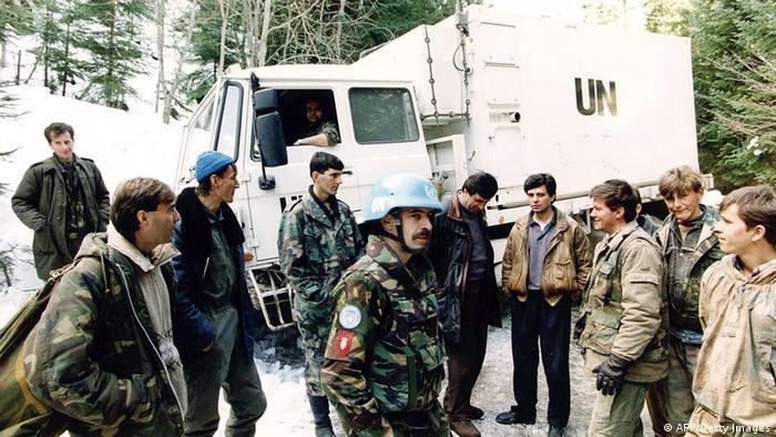 Dutch UN soldiers at Srebrenica in 1994