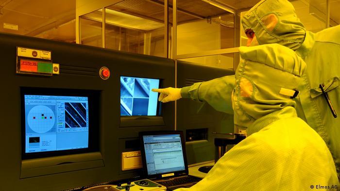 Производство и проверка качества полупроводников на заводе фирмы Elmos в Дортмунде
