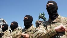Ukraine Gelöbnis der neuen Azov Soldaten in Kiew 16.07.2014