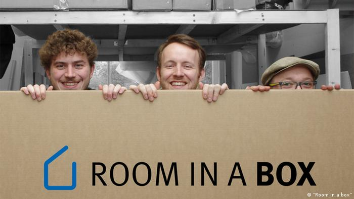 Lionel Palm, Gerald Dissen und Christian Hinse, die Gründer von Room in a box (Foto: Room in a box)