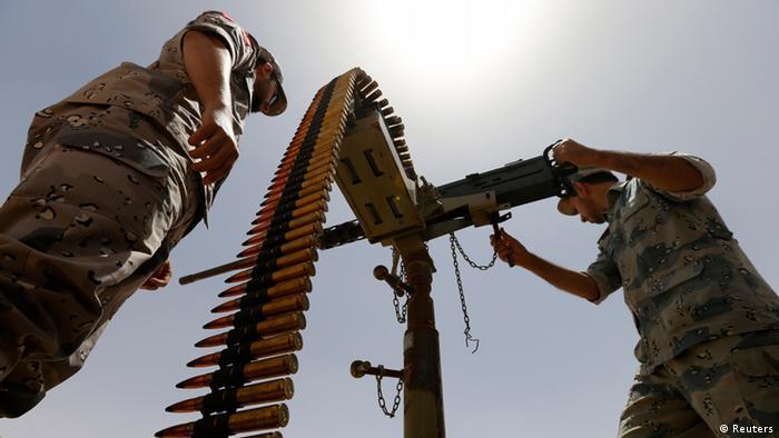 Saudische Soldaten an der Grenze zum Irak (Foto vom Juli 2014: Reuters)