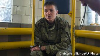 Летчица Надежда Савченко, июнь 2014 года