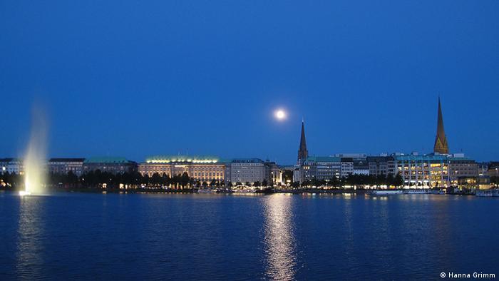 Stadtansicht Hamburg bei Nacht