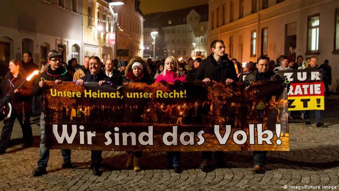 تظاهرات هواداران وابسته به حزب دمکرات ملی آلمان بر ضد پناهجویان