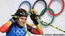 (File) Picture taken 07 February 2014 of Evi Sachenbacher-Stehle of Germany during a training session at the Laura Biathlon Center at the Sochi 2014 Olympic Games, Krasnaya Polyana, Russia. EPA/HENDRIK SCHMIDT (zu dpa «Doping;Sachenbacher-Stehle» am 16.07.2014) +++(c) dpa - Bildfunk+++