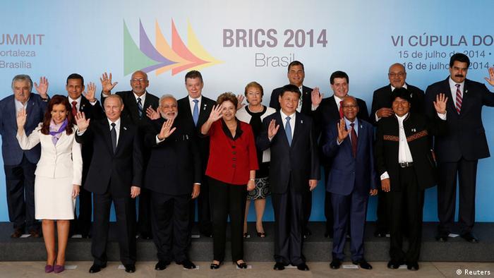 BRICS UNASUR Treffen in Brasilia 16.07.2014 Gruppenfoto (Foto: Reuters)