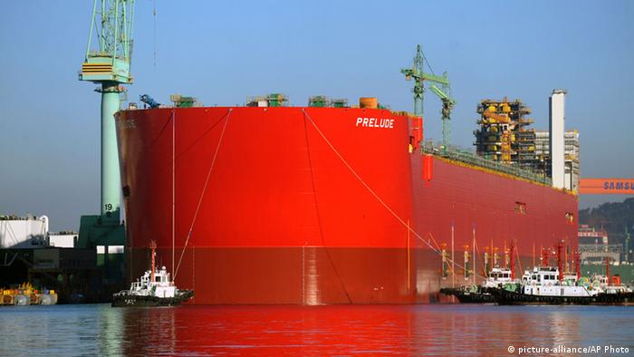 FLNG floating liquefied natural gas vessel Prelude