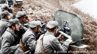 Erster Weltkrieg deutsche Soldaten 1916 Ostfront