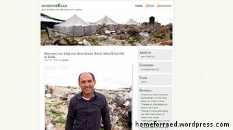 Raed Athamna auf einem Screenshot der Seite Home for Raed (Foto: Home for Raed)