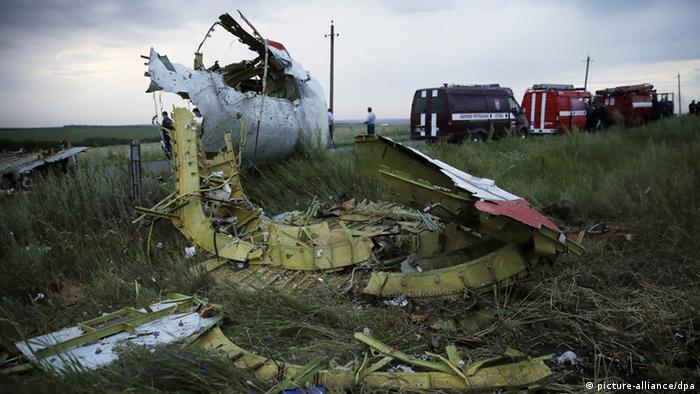 Mjesto pada aviona MH-17 u Ukrajini