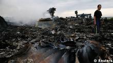 На месте падения рейса MH-17