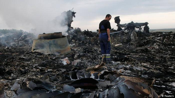 Crash site MH-17 Ukraine