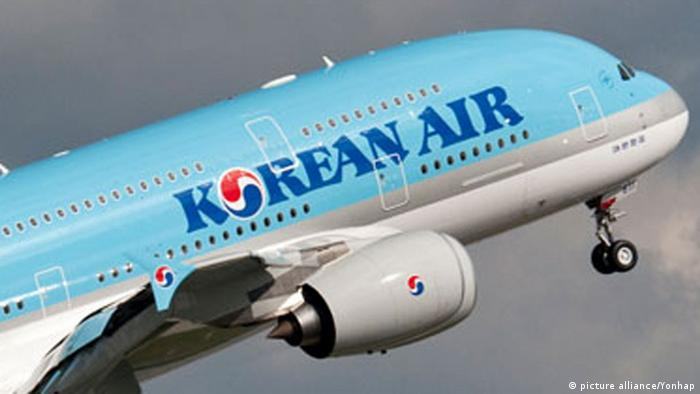 Korean Air plane taking off