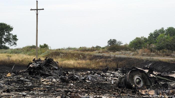Место крушения Боинга Малайзийских авиалиний, рейс MH17. Июль 2014 г.