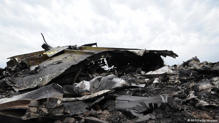 a pile of debris from an aircraft (Photo: Dominique Faget/AFP/Getty Images)