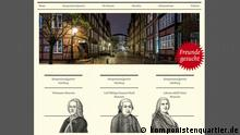 Screenshot von der Seite http://www.komponistenquartier.de/ http://www.komponistenquartier.de/