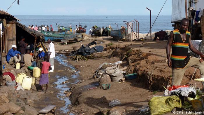 Fischerdorf Kasensero in Westuganda (Foto: Simone Schlindwein)