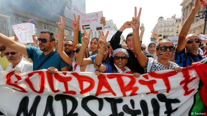 Protest in Marseille gegen Israels Kurs in Gaza 19.07.2014