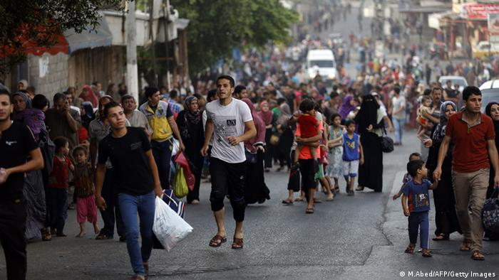 Palästina Gaza Stadt unter massiven Beschuss durch Israel 20.07.2014