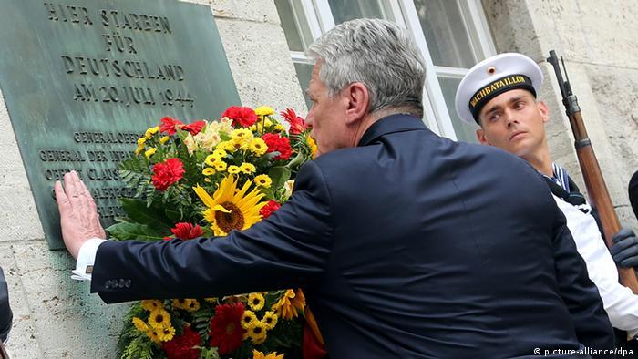 Gauck bei Gedenkveranstaltung zum 20. Juli