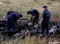 На месте крушения самолета MH17 в Донецкой области