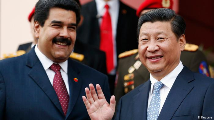 Chinese President Xi Jingping and Venezuelan President Nicolas Maduro