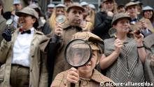 London Großbritannien Sherlock Holmes Verkleidung