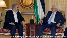 Mahmoud Abbas mit Khaled Meshaal 21.07.2014 Doha