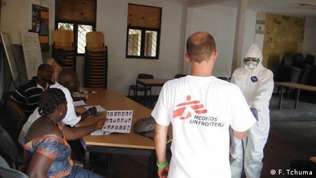 Ärzte ohne Grenzen im Training in Guinea-Bissau